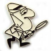 Pink Panther - 'Magnifying Glass' Plastic Badge
